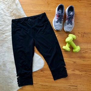 Jockey Black Capri Leggings